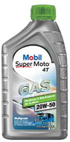 Mobil Super MotoTM Gas 4T 20W-50